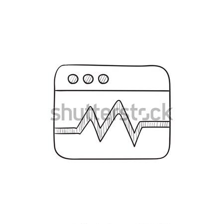 Web analytics information sketch icon. Stock photo © RAStudio