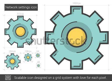 Network settings line icon. Stock photo © RAStudio