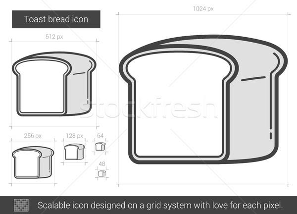 Toast bread line icon. Stock photo © RAStudio