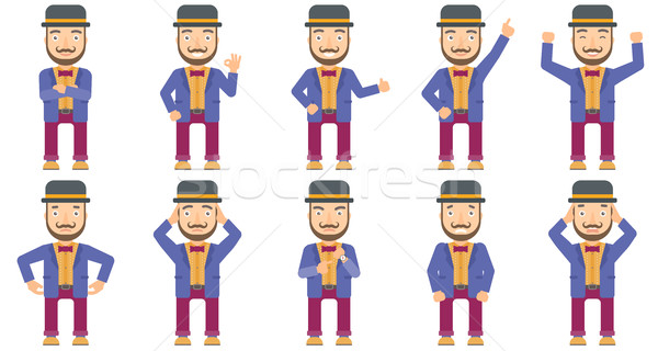 Stock photo: Vector set of circus artist characters.