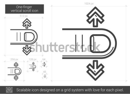 One-finger vertical scroll line icon. Stock photo © RAStudio