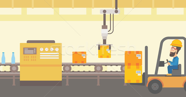 Robotic packaging production line. Stock photo © RAStudio