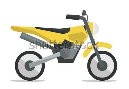 Young asian man riding motorcycle. Stock photo © RAStudio