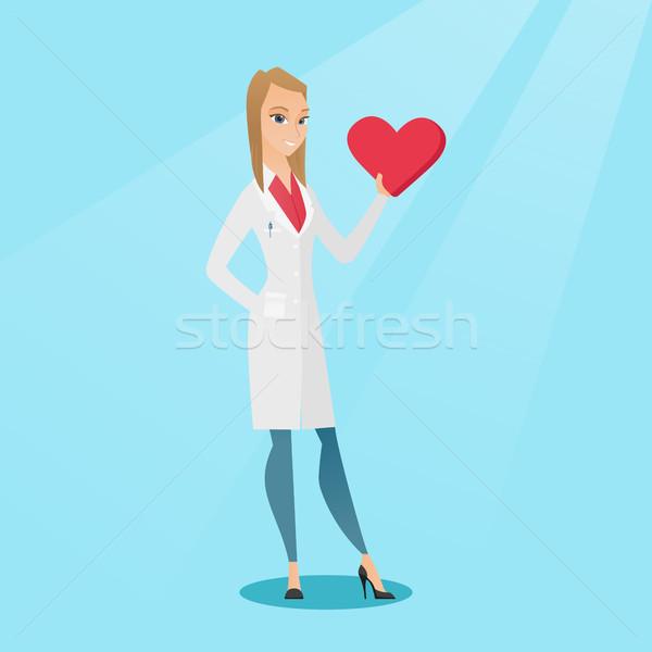 врач кардиолог сердце кавказский медицинской Сток-фото © RAStudio