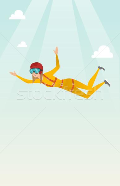 Kafkas atlama paraşüt profesyonel düşen hava Stok fotoğraf © RAStudio