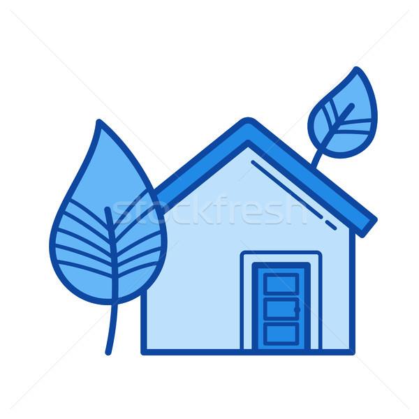 Eco house line icon. Stock photo © RAStudio