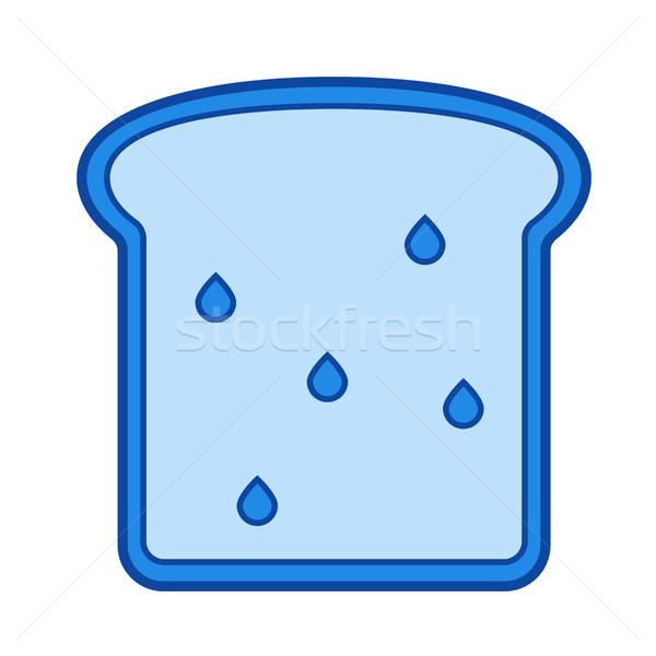 Volkorenbrood lijn icon vector geïsoleerd witte Stockfoto © RAStudio