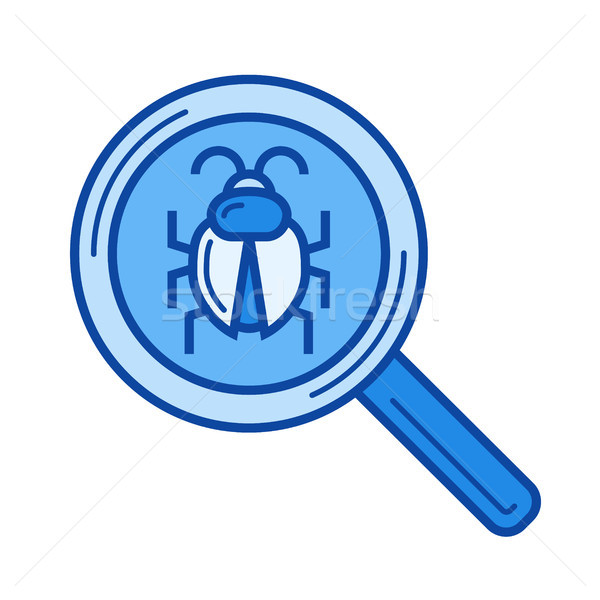 Bug searching line icon. Stock photo © RAStudio