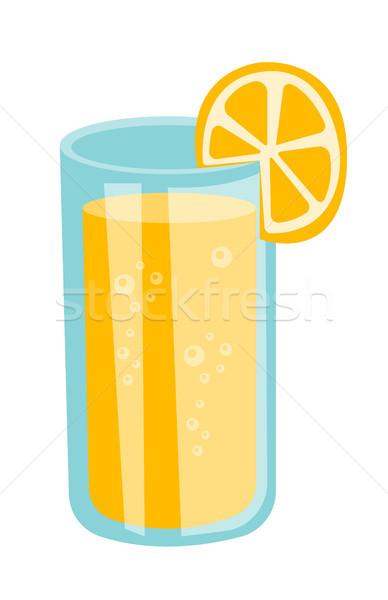 Cam portakal suyu vektör karikatür örnek tok Stok fotoğraf © RAStudio