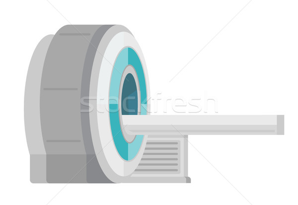 Mri scanner machine vector cartoon illustratie Stockfoto © RAStudio