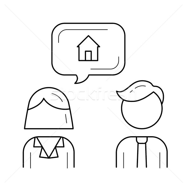 Mortgage broker line icon. Stock photo © RAStudio