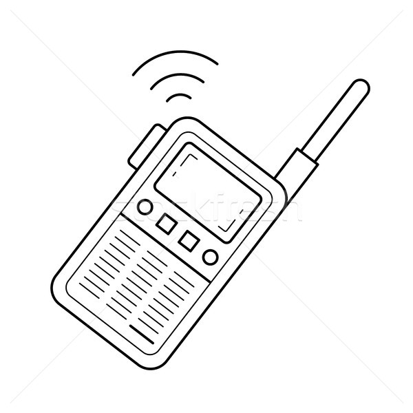 Radio set line icon. Stock photo © RAStudio