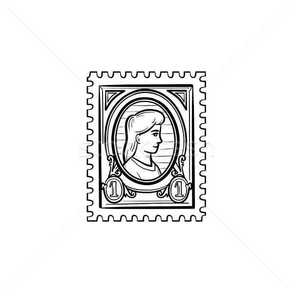 Philately hand drawn sketch icon. Stock photo © RAStudio