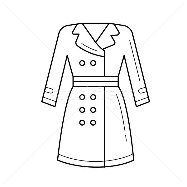 Kabát vektor vonal ikon izolált fehér Stock fotó © RAStudio