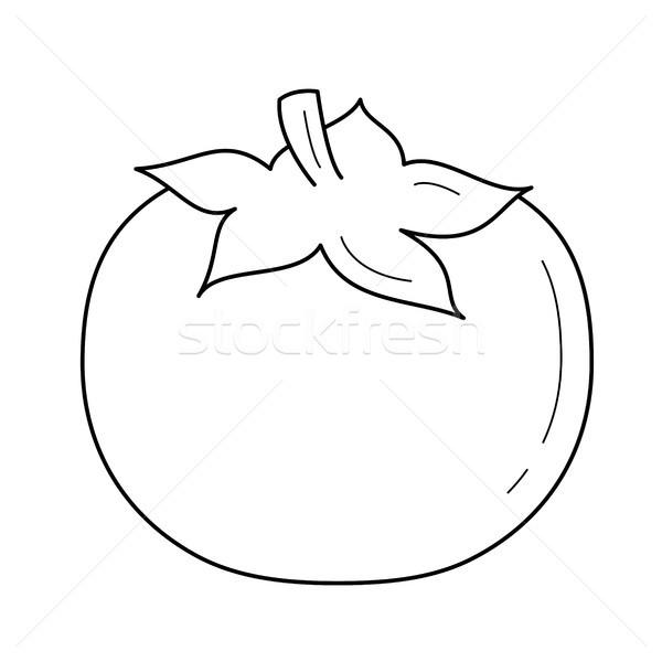 Pomodoro vettore line icona isolato Foto d'archivio © RAStudio