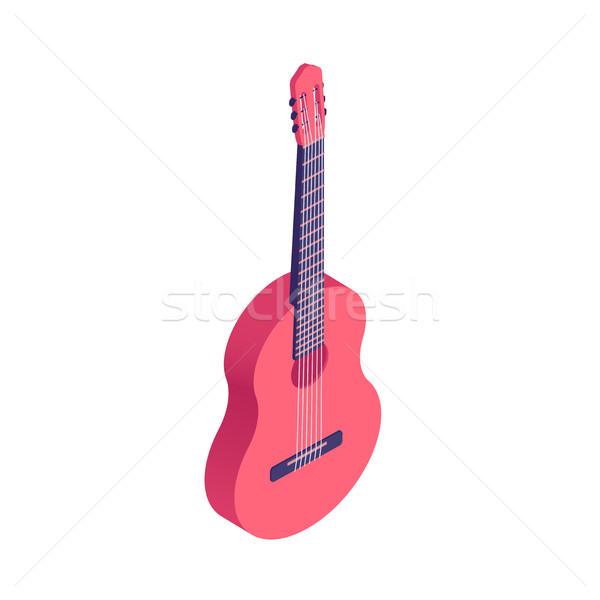 Isometric guitar isolated on white background. Stock photo © RAStudio