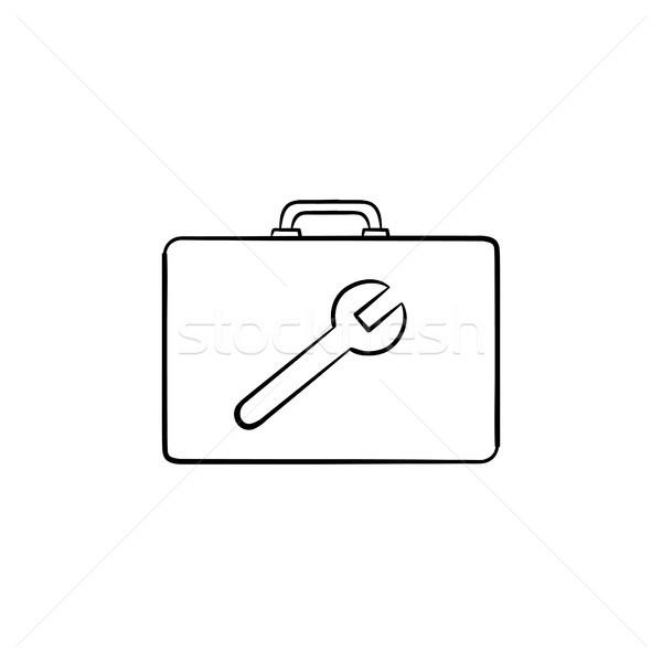 ツールボックス 手描き スケッチ アイコン いたずら書き ストックフォト © RAStudio