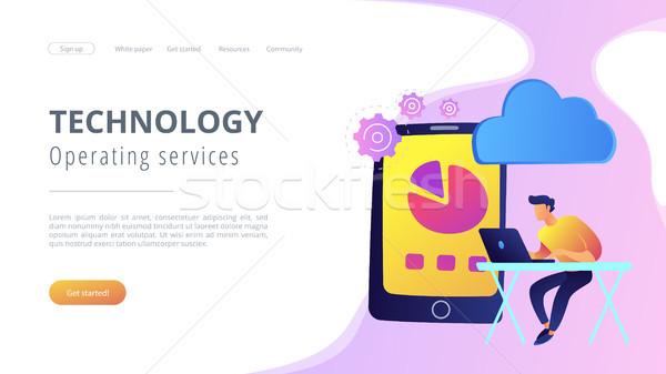 Wolk beheer ontwikkelaars tekening grafiek Stockfoto © RAStudio