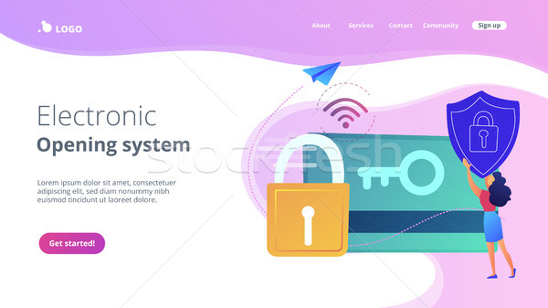 Stock photo: Security access card concept vector illustration.