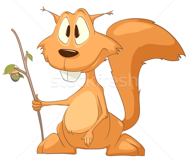 Cartoon Character Squirrel Stock photo © RAStudio