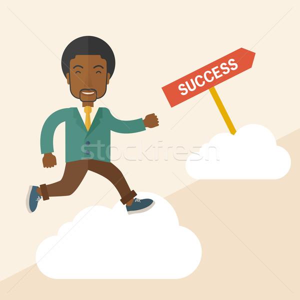 Successful african businessman. Stock photo © RAStudio