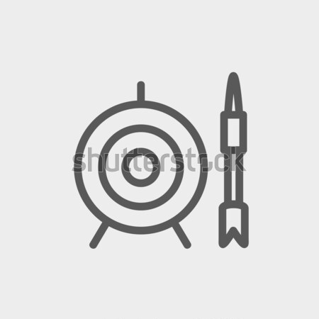 Target and arrow thin line icon Stock photo © RAStudio