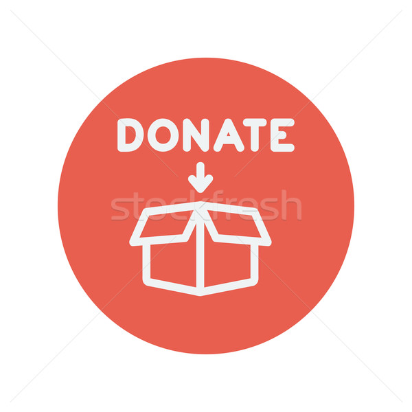 Donation box thin line icon Stock photo © RAStudio