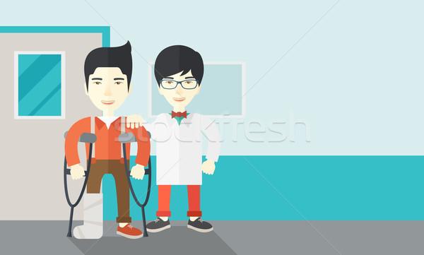 раненый человека врач азиатских Постоянный Сток-фото © RAStudio
