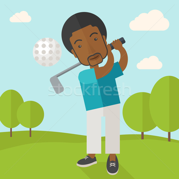 Golf player on field. Stock photo © RAStudio