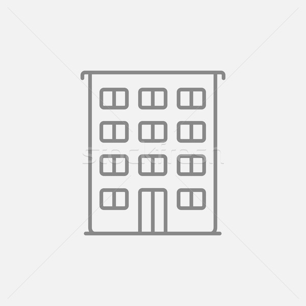 Residential building line icon. Stock photo © RAStudio