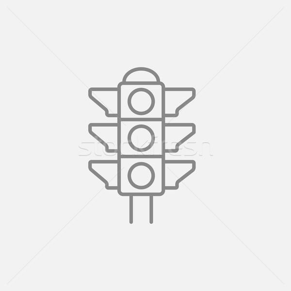 światłach line ikona internetowych komórkowych infografiki Zdjęcia stock © RAStudio
