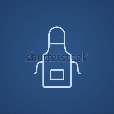 Kitchen apron line icon. Stock photo © RAStudio