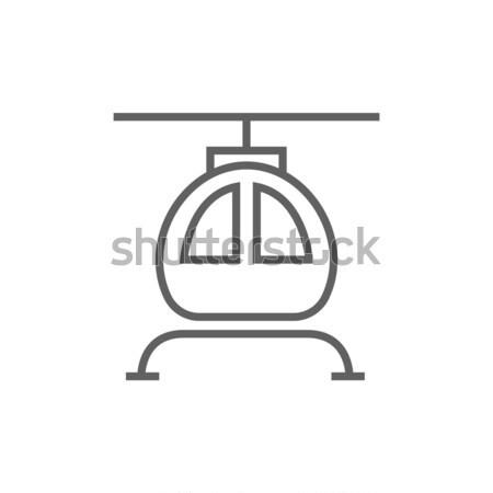 вертолета линия икона веб мобильных Инфографика Сток-фото © RAStudio