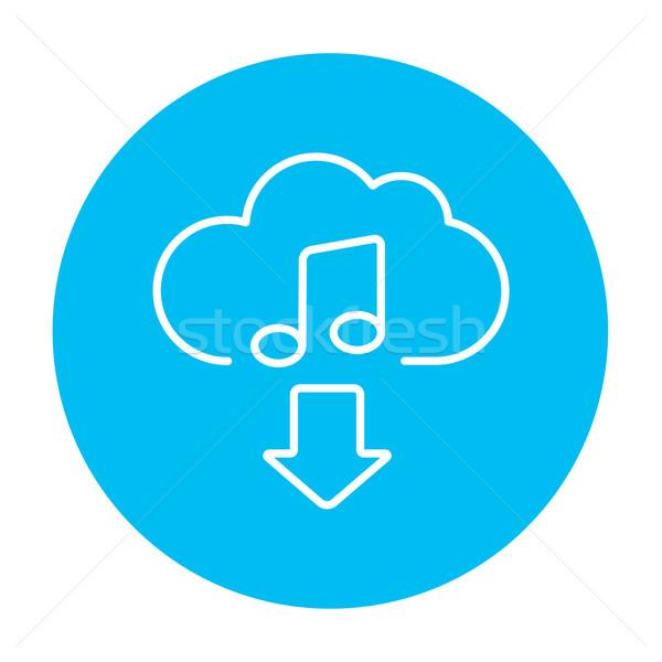 Indirmek müzik hat ikon web hareketli Stok fotoğraf © RAStudio