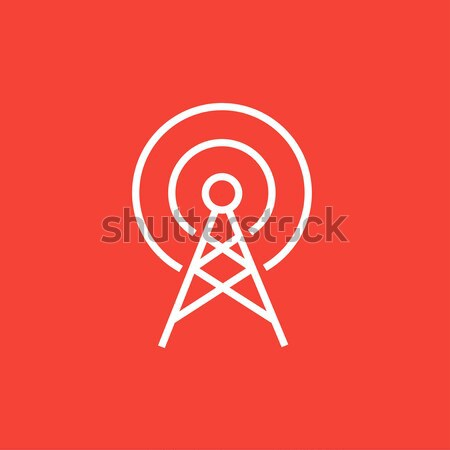 Antenna line icon. Stock photo © RAStudio