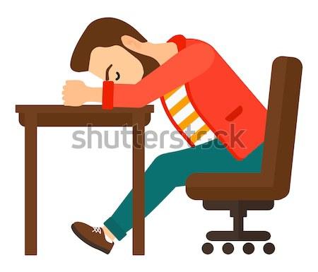 Man sleeping on table. Stock photo © RAStudio
