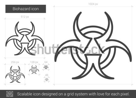 Bio hazard sign line icon. Stock photo © RAStudio