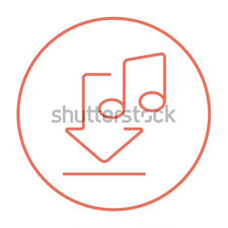 Audio boek lijn icon web mobiele Stockfoto © RAStudio
