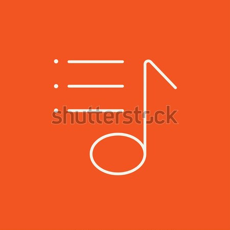 Musical note line icon. Stock photo © RAStudio