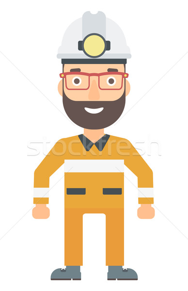 Confident miner in hardhat. Stock photo © RAStudio