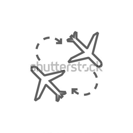 Airplanes line icon. Stock photo © RAStudio
