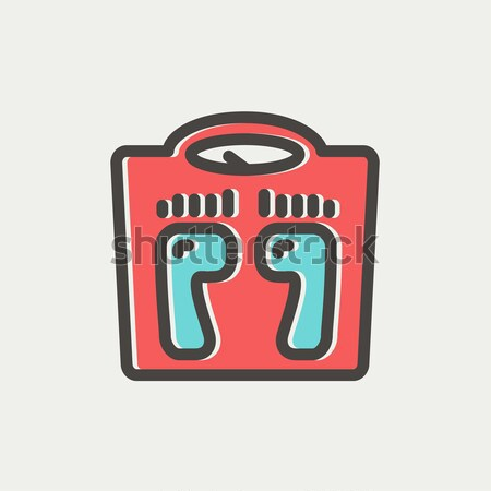 Weighing scale line icon. Stock photo © RAStudio