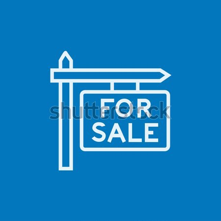 For sale signboard line icon. Stock photo © RAStudio