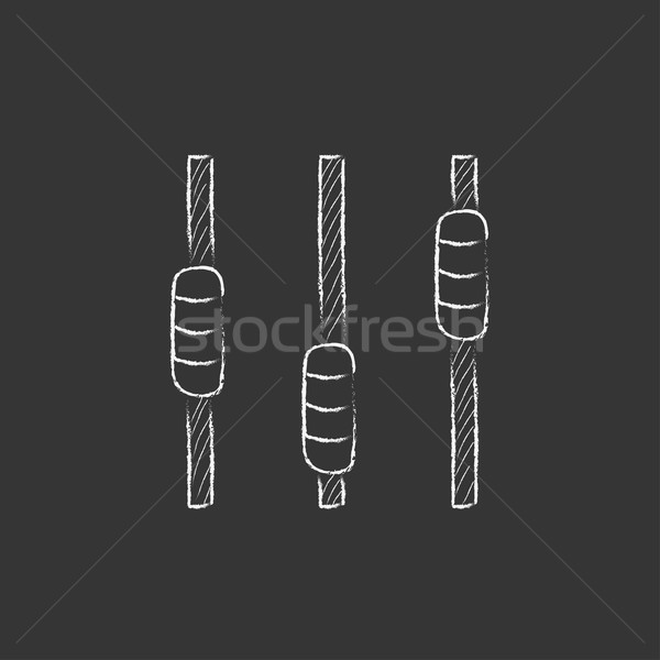 Sound mixer console. Drawn in chalk icon. Stock photo © RAStudio