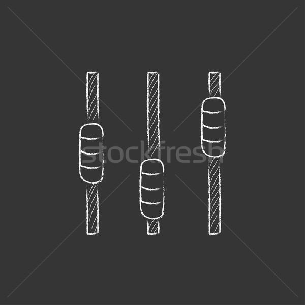 Sonores mixeur consoler craie icône Photo stock © RAStudio