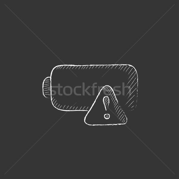 Vazio bateria giz ícone Foto stock © RAStudio