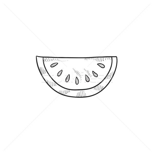 Melone sketch icona vettore isolato Foto d'archivio © RAStudio
