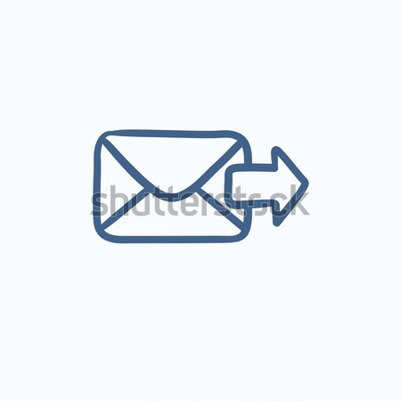Küldés email rajz ikon vektor izolált Stock fotó © RAStudio