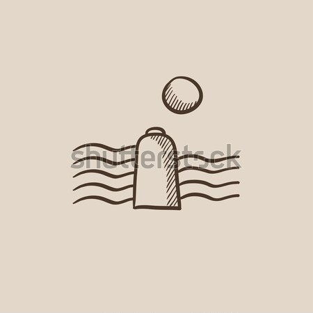 Solar energy and hydropower sketch icon. Stock photo © RAStudio