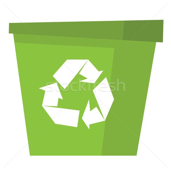 Recycler poubelle vert vecteur design illustration Photo stock © RAStudio